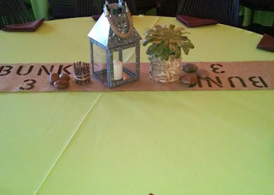Camping themed mitzvah