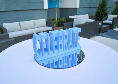 Skyvue corporate party decor