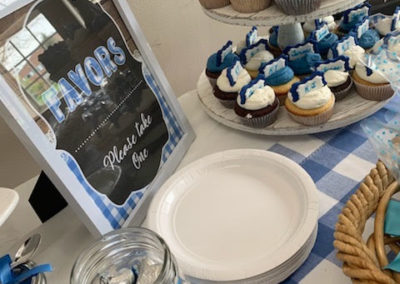 Twins blue baby shower